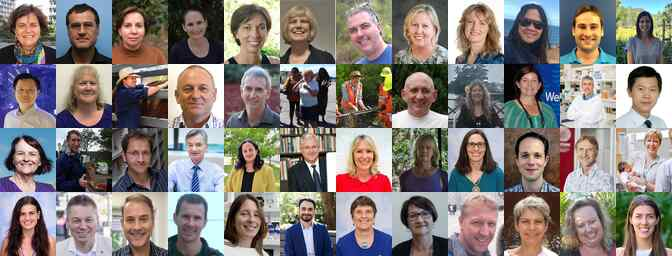 Collage of profile photos of James Cook University's researchers